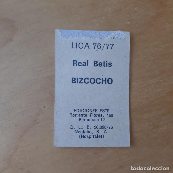 Cromos de Fútbol: EDICIONES ESTE 1976 1977 - 76 77 - REAL BETIS - BIZCOCHO - Foto 2 - 172904724