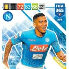 Cromos de Fútbol: PANINI - ADRENALYN XL - FIFA 365 2018 / 2019 - NAPOLES 203 ALLAN. Lote 173507354