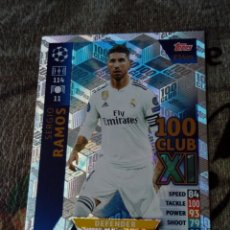Cromos de Fútbol: TOPPS CHAMPIONS LEAGUE REAL MADRID RAMOS CLUB 100 18 19. Lote 173527844