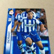 Cromos de Fútbol: SERGIO 101 REAL CLUB DEPORTIVO MEGACRACKS 2006 2007 06 07 PANIN CROMO FÚTBOL MEGA CRACKS MGK. Lote 173670330