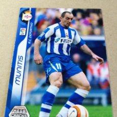 Cromos de Fútbol: MUNITIS 108 REAL CLUB DEPORTIVO MEGACRACKS 2006 2007 06 07 PANIN CROMO FÚTBOL MEGA CRACKS MGK. Lote 173670888