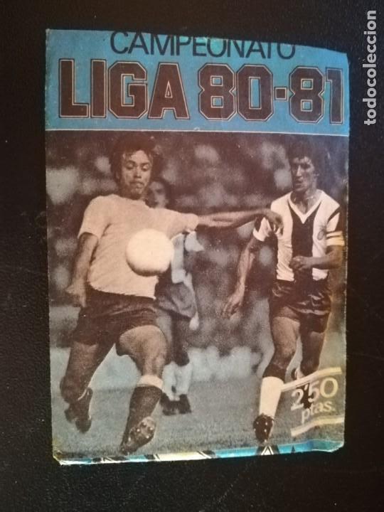 EDICIONES ESTE SOBRE NUEVO SIN ABRIR LIGA 80/81 VERSION AZUL (Coleccionismo Deportivo - Álbumes y Cromos de Deportes - Cromos de Fútbol)
