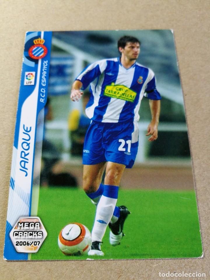 JARQUE Nº 114 REAL CLUB ESPANYOL MEGACRACKS 2006 2007 06 07 PANINI CROMO FÚTBOL MEGA CRACKS MGK (Coleccionismo Deportivo - Álbumes y Cromos de Deportes - Cromos de Fútbol)