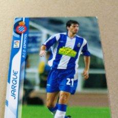 Cromos de Fútbol: JARQUE Nº 114 REAL CLUB ESPANYOL MEGACRACKS 2006 2007 06 07 PANINI CROMO FÚTBOL MEGA CRACKS MGK . Lote 173752499