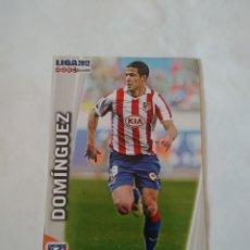 Cromos de Fútbol: ERROR CORREGIDO Nº 173 DOMÍNGUEZ ATLÉTICO MADRID CROMO FÚTBOL FICHAS LIGA 11-12 MUNDICROMO 2011-2012. Lote 173760695