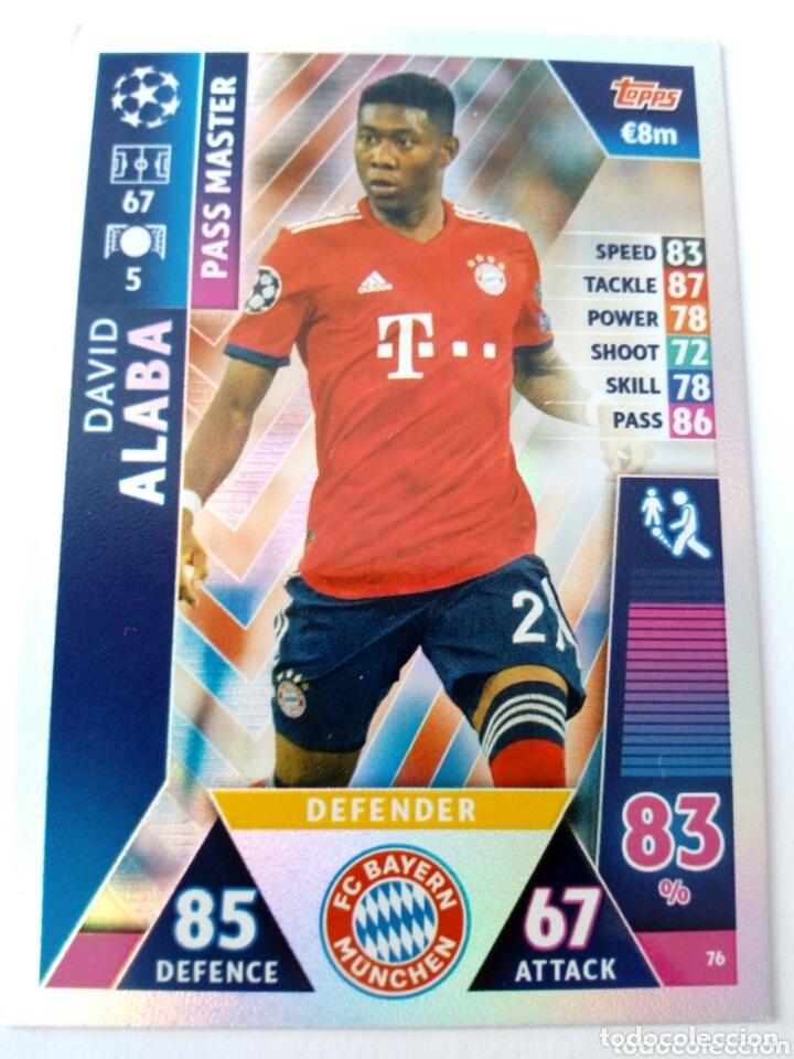 DAVID ALABA BAYERN CHAMPIONS 18 19 PASS MASTER (Coleccionismo Deportivo - Álbumes y Cromos de Deportes - Cromos de Fútbol)