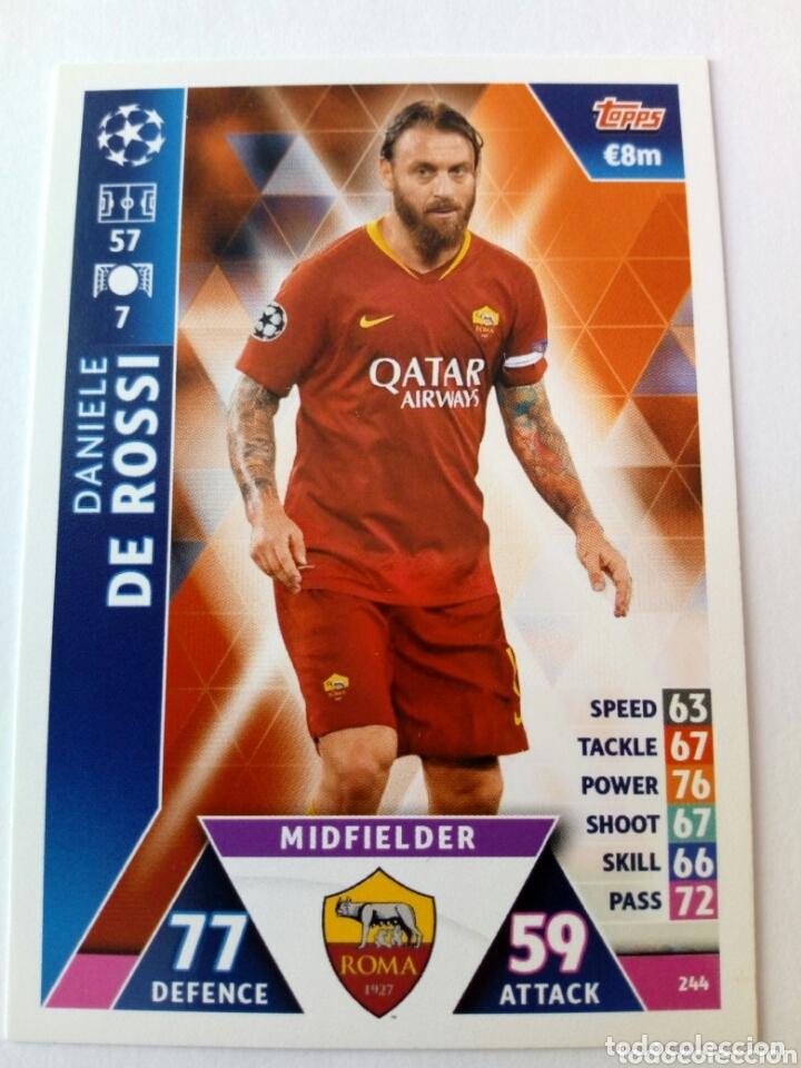 DANIELE DE ROSSI ROMA CHAMPIONS 18 19 (Coleccionismo Deportivo - Álbumes y Cromos de Deportes - Cromos de Fútbol)