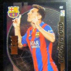 Cromos de Fútbol: ADRENALYN XL PANINI 2014-15 MESSI BALON ORO 463 FC BARCELONA. Lote 174248402
