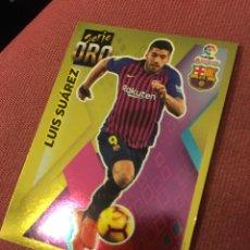 Cromos de Fútbol: ESTE 2019 2020 19 20 SIN PEGAR SERIE ORO BARCELONA LUIS SUÁREZ 4. Lote 174343660