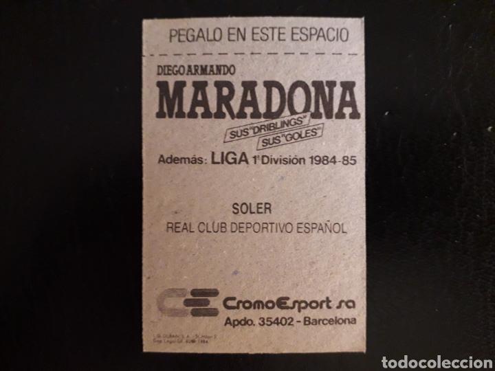 Cromos de Fútbol: SOLER. RCD ESPAÑOL. CROMOESPORT. 1984-1985. 84-85. SIN PEGAR. VER FOTOS DE FRONTAL Y TRASERA - Foto 2 - 174409722