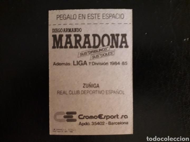 Cromos de Fútbol: ZÚÑIGA. RCD ESPAÑOL. CROMOESPORT. 1984-1985. 84-85. SIN PEGAR. VER FOTOS DE FRONTAL Y TRASERA - Foto 2 - 174409838