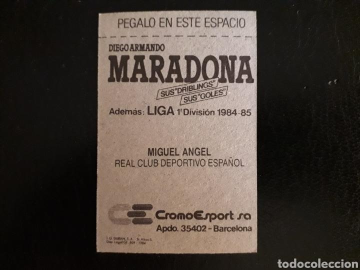 Cromos de Fútbol: MIGUEL ÁNGEL. RCD ESPAÑOL. CROMOESPORT. 1984-1985. 84-85. SIN PEGAR. VER FOTOS DE FRONTAL Y TRASERA - Foto 2 - 174409869