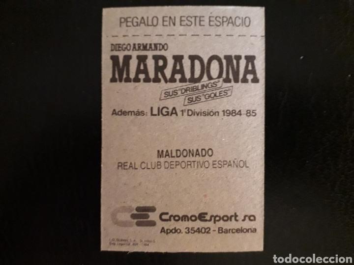 Cromos de Fútbol: MALDONADO. RCD ESPAÑOL. CROMOESPORT. 1984-1985. 84-85. SIN PEGAR. VER FOTOS DE FRONTAL Y TRASERA - Foto 2 - 174409944