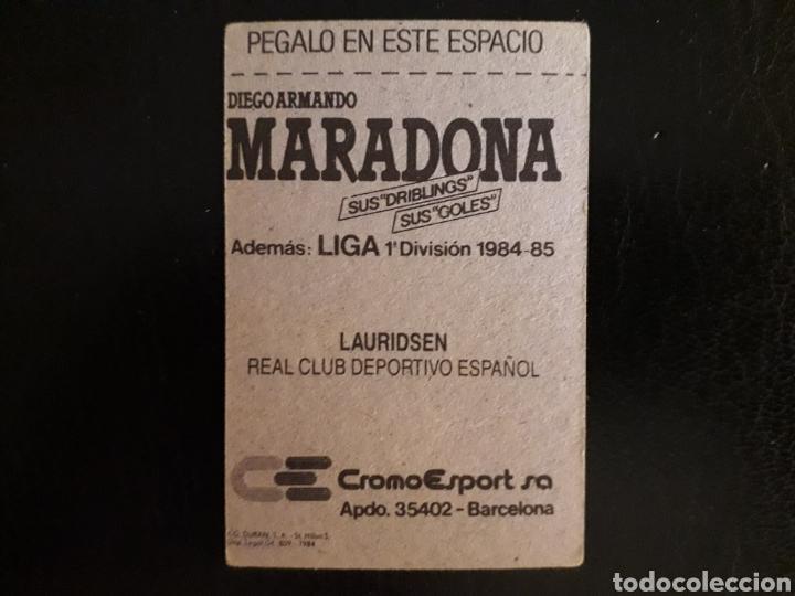 Cromos de Fútbol: LAURIDSEN. RCD ESPAÑOL. CROMOESPORT. 1984-1985. 84-85. SIN PEGAR. VER FOTOS DE FRONTAL Y TRASERA - Foto 2 - 174410024