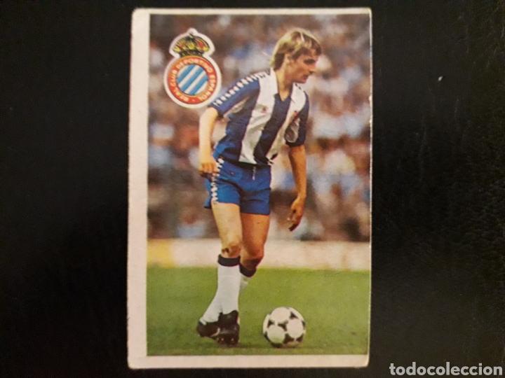 LAURIDSEN. RCD ESPAÑOL. CROMOESPORT. 1984-1985. 84-85. SIN PEGAR. VER FOTOS DE FRONTAL Y TRASERA (Coleccionismo Deportivo - Álbumes y Cromos de Deportes - Cromos de Fútbol)