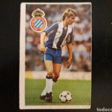 Cromos de Fútbol: LAURIDSEN. RCD ESPAÑOL. CROMOESPORT. 1984-1985. 84-85. SIN PEGAR. VER FOTOS DE FRONTAL Y TRASERA. Lote 174410024