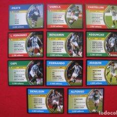 Cromos de Fútbol: LOTE 11 CROMOS TARJETA - EL JUEGO DE LA LIGA 2004 / 2005 - BORRAS.. Lote 174500289