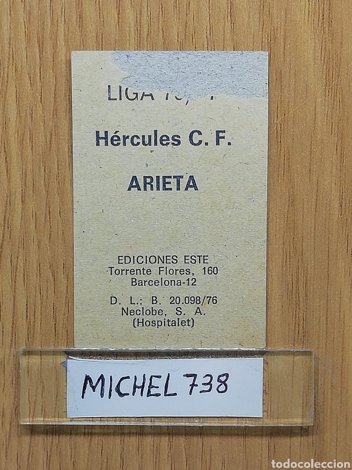 Cromos de Fútbol: Este liga 76 /77.. Arieta ... Hercules... Recuperado... - Foto 2 - 175097534