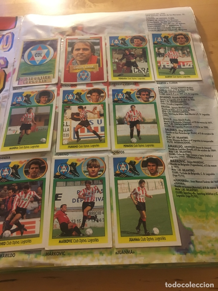 Cromos de Fútbol: Album increíble 93 94 1993 1994 liga este a falta 8 cromos. - Foto 15 - 121380324