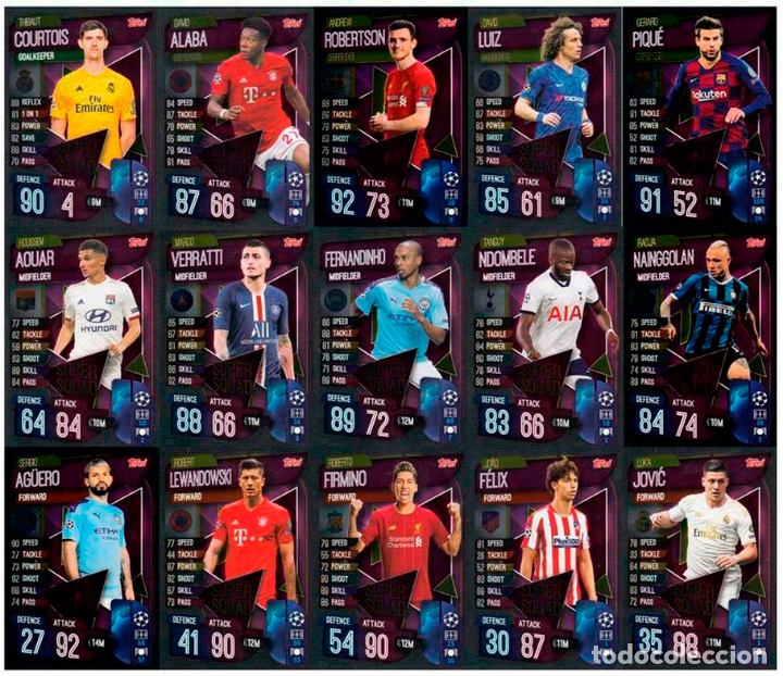 Match Attax 19//20 2019//20 Lot de quatre 4 tactiques cartes-Champions League