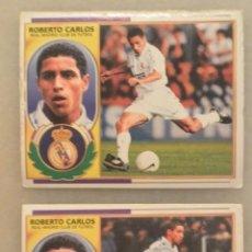 Cromos de Fútbol: LOTE 2 CROMOS ROBERTO CARLOS ALBUM LIGA 96/97. NUNCA PEGADOS. Lote 175261197