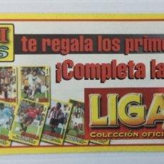 Cromos de Fútbol: ADHESIVO LÁMINA DE CROMOS PANINI LIGA 1999 / 2000. Lote 175263770