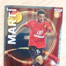 Cromos de Fútbol: 589 MARTI - MALLORCA - TOP BRILLO LISO ROJO - MUNDICROMO FICHAS QUIZ LIGA 2010 2011 10 11. Lote 175797720