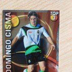 Cromos de Fútbol: MUNDICROMO 2010 2011 10 11 QUIZ GAME - TOP 3 - DOMINGO CISMA - Nº 585 - FONDO ROJO BRILLO LISO. Lote 175797822