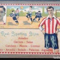 Cromos de Fútbol: MEANA, SPORTING DE GIJÓN, CHOCOLATES JUNCOSA, AÑOS 20. Lote 175892060