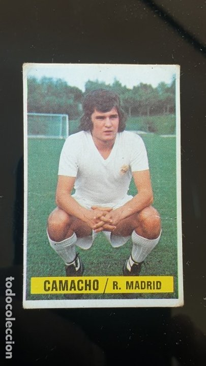 EL IMPOSIBLE COLOCA DE CAMACHO ,CAMPEONATO DE LIGA 1974,75 DIFICILISIMO , SIN PEGAR, (Coleccionismo Deportivo - Álbumes y Cromos de Deportes - Cromos de Fútbol)