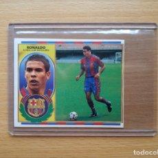 Cromos de Fútbol: RONALDO VERSION CON PELO FC BARCELONA EDICIONES ESTE 1996 1997 96 97 CROMO SIN PEGAR NUNCA PEGADO. Lote 175961008