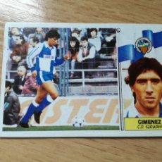 Cromos de Fútbol: GIMENEZ, COLOCA CD SABADELL, EDITORIAL ESTE 86/87, RECUPERADO.. Lote 176094257