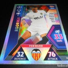 Cromos de Fútbol: 70 RODRIGO SPEED KING VALENCIA CROMOS CARDS UEFA CHAMPIONS LEAGUE TOPPS ATTAX 18 19 2018 2019. Lote 176130774