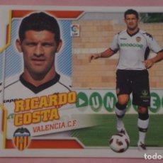 Cromos de Fútbol: CROMO DE FÚTBOL RICARDO COSTA DEL VALENCIA C.F. COLOCA SIN PEGAR LIGA ESTE 2010-2011/10-11. Lote 210704844