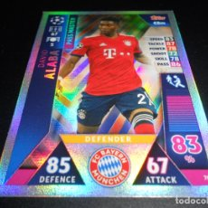 Cromos de Fútbol: 76 DAVID ALABA PASS MASTER FC BAYERN MUNCHEN CARDS CHAMPIONS LEAGUE TOPPS ATTAX 18 19 2018 2019. Lote 176200072