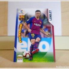 Cromos de Fútbol: MEGACRACKS 2018 2019 18 19 PANINI. LENGLET Nº 91 FICHAJE (FC BARCELONA) CROMOS LIGA FÚTBOL MGK. Lote 176213325