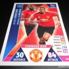Cromos de Fútbol: 180 ALEXIS SANCHEZ LUKAKU MANCHESTER UNITED CARDS CHAMPIONS LEAGUE TOPPS ATTAX 18 19 2018 2019. Lote 176216878