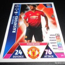 Cromos de Fútbol: 179 MARCUS RASHFORD MANCHESTER UNITED CROMOS CARDS CHAMPIONS LEAGUE TOPPS ATTAX 18 19 2018 2019. Lote 176216999