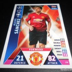 Cromos de Fútbol: 176 ALEXIS SANCHEZ MANCHESTER UNITED CARDS CHAMPIONS LEAGUE TOPPS ATTAX 18 19 2018 2019. Lote 176217302