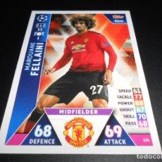 Cromos de Fútbol: 174 MAROUANE FELLAINI MANCHESTER UNITED CARDS CHAMPIONS LEAGUE TOPPS ATTAX 18 19 2018 2019. Lote 176217527