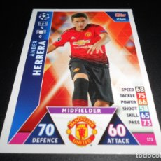 Cromos de Fútbol: 172 ANDER HERRERA MANCHESTER UNITED CARDS CROMOS CHAMPIONS LEAGUE TOPPS ATTAX 18 19 2018 2019. Lote 176217632