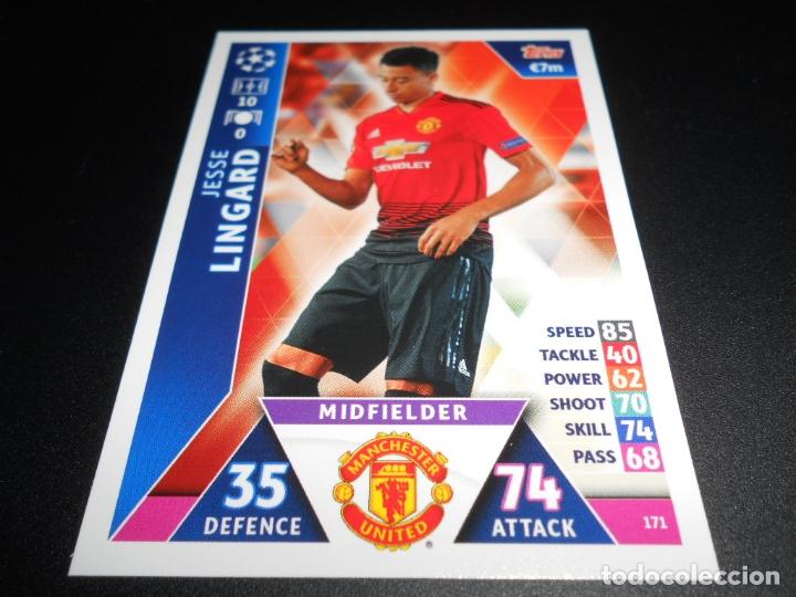 171 JESSE LINGARD MANCHESTER UNITED CARDS CROMOS CHAMPIONS LEAGUE TOPPS ATTAX 18 19 2018 2019 (Coleccionismo Deportivo - Álbumes y Cromos de Deportes - Cromos de Fútbol)