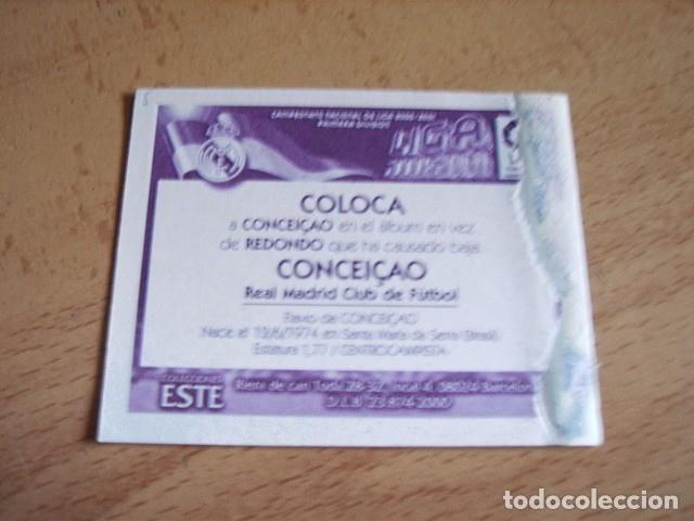 Cromos de Fútbol: ESTE 00-01 COLOCA CONCEICAO R.MADRID VENTANILLA - Foto 2 - 176217878