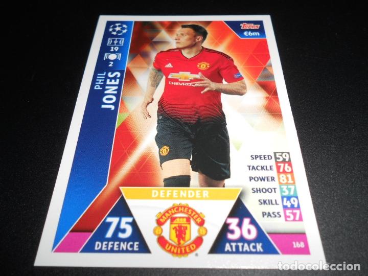 168 PHIL JONES MANCHESTER UNITED CARDS CROMOS CHAMPIONS LEAGUE TOPPS ATTAX 18 19 2018 2019 (Coleccionismo Deportivo - Álbumes y Cromos de Deportes - Cromos de Fútbol)