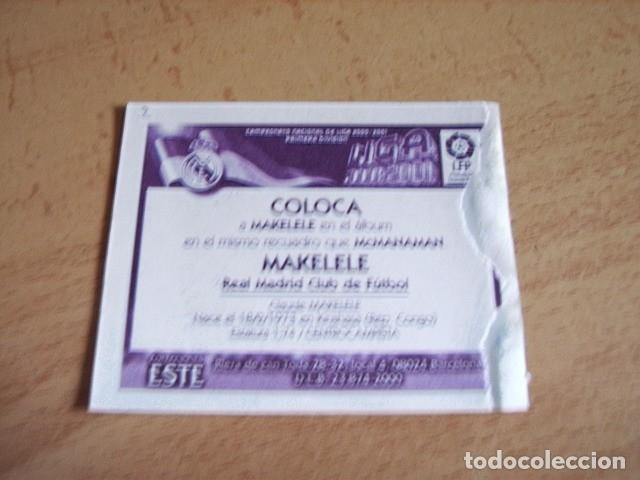 Cromos de Fútbol: ESTE 00-01 COLOCA MAKELELE R.MADRID VENTANILLA - Foto 2 - 176217944