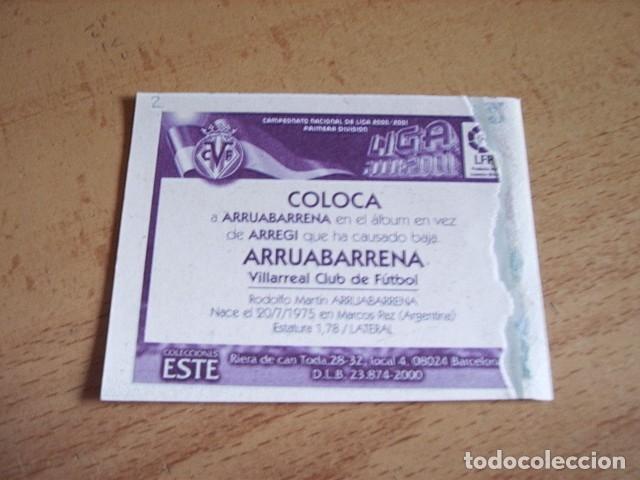 Cromos de Fútbol: ESTE 00-01 COLOCA ARRUABARRENA VILLARREAL VENTANILLA - Foto 2 - 176218057