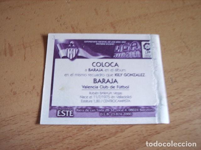 Cromos de Fútbol: ESTE 00-01 COLOCA BARAJA VALENCIA VENTANILLA - Foto 2 - 176218124
