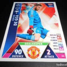 Cromos de Fútbol: 164 DAVID DE GEA MANCHESTER UNITED CARDS CHAMPIONS LEAGUE TOPPS ATTAX 18 19 2018 2019. Lote 176218280