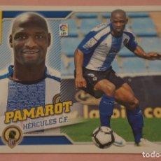 Cromos de Fútbol: CROMO DE FÚTBOL PAMAROT DEL HERCULES C.F. COLOCA SIN PEGAR LIGA ESTE 2010-2011/10-11. Lote 210704802