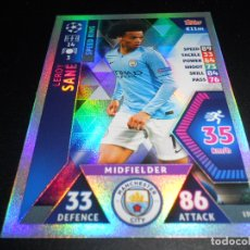 Cromos de Fútbol: 159 LEROY SANE SPEED KING MANCHESTER CITY CARDS CHAMPIONS LEAGUE TOPPS ATTAX 18 19 2018 2019. Lote 176261964